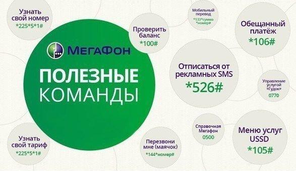 Полезные команды для операторов Мегафон