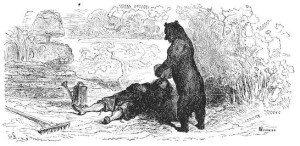 Медведь и мужик.
