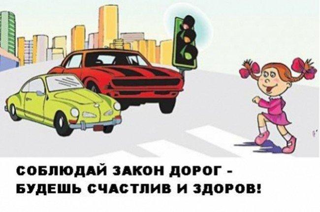 знай как переходить дорогу