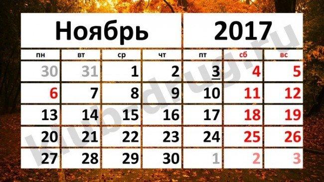 Сколько дней будем отдыхать в ноябрьские праздники 2017?