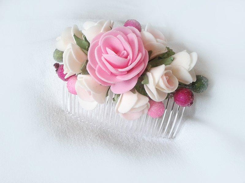 Как сделать гребешок с цветами