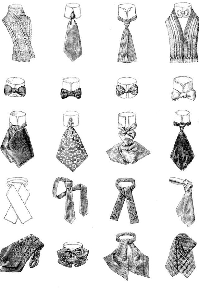 Правило ношения галстука