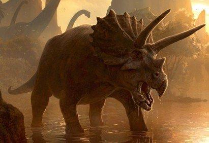 Трицератопс - рогатый динозавр