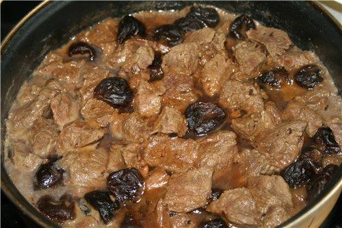 Говядина тушеная с черносливом в мультиварке рецепты