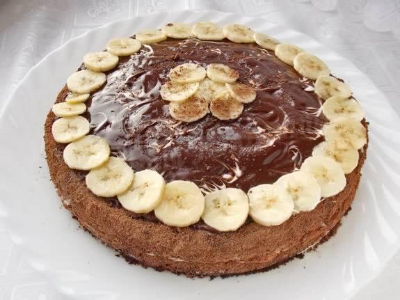 Торт с бананами бисквитный: рецепт