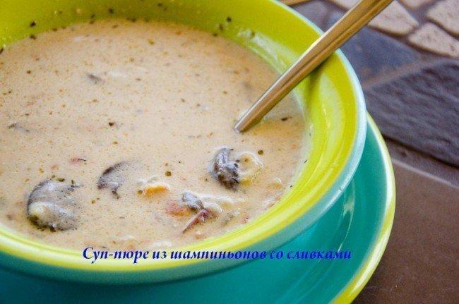 вкусный суп пюре из шампиньонов