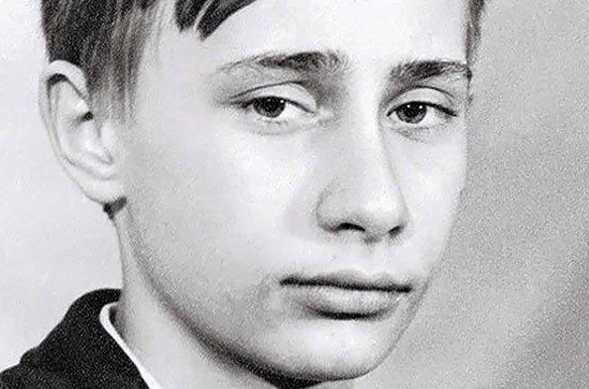 Владимир Путин в школе