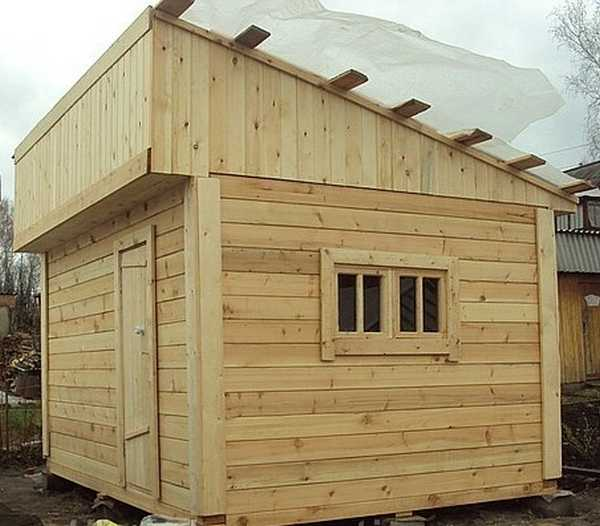 Построить крышу для бани своими руками
