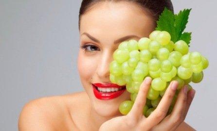 польза винограда для кожи