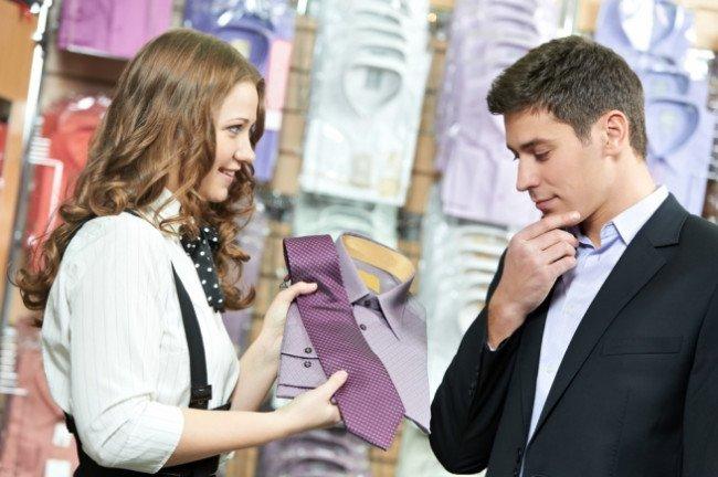продавец мужской одежды