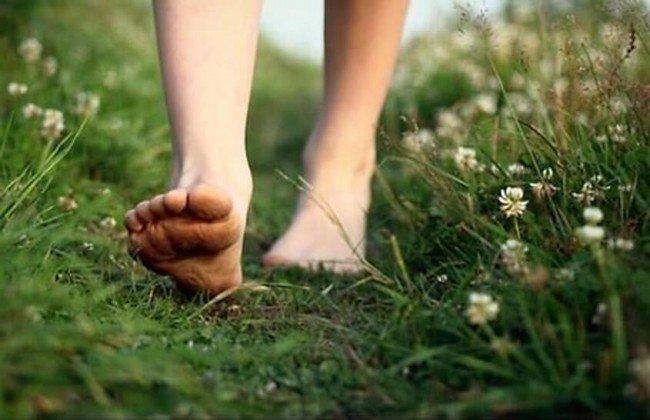 Ходьба босиком очень полезно для здоровья