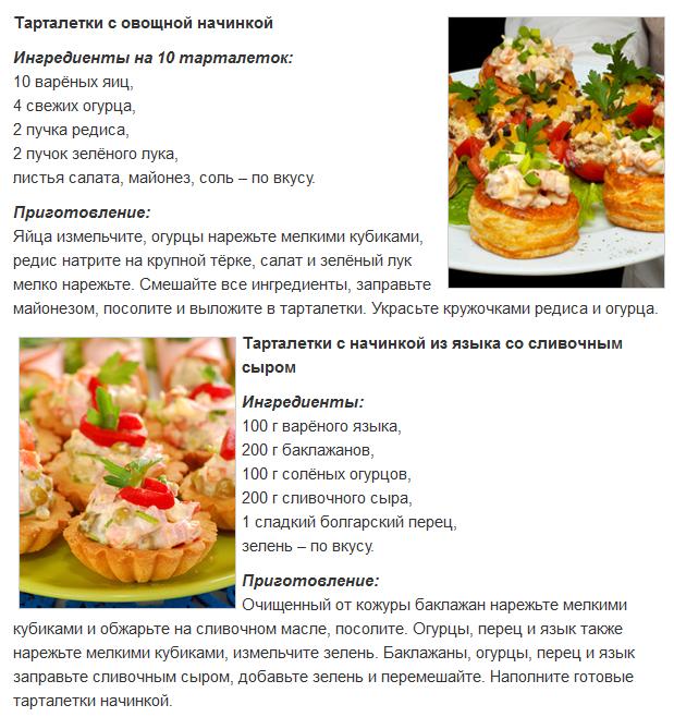 Тарталетки рецепты в домашних условиях 437
