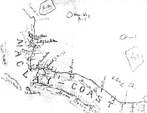 Берег Маклая на карте