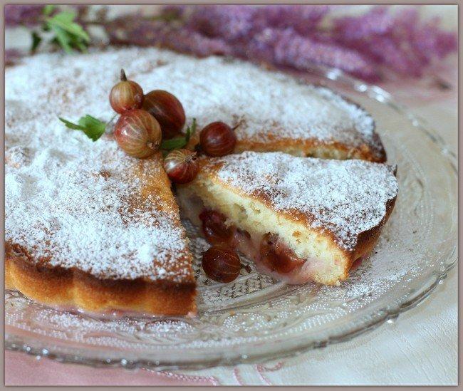 рецепт пирога с крыжовником