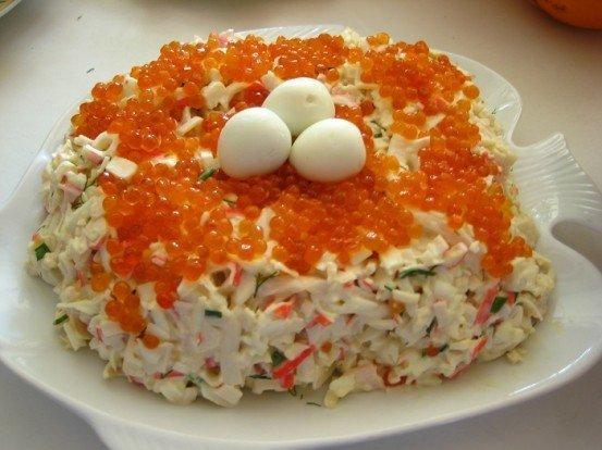 "рецепт салата "" Морская пена"""