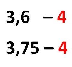 Какая оценка выйдет за четверть при среднем балле 3, 6 или 3, 75?