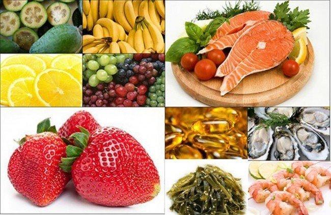 йод и продукты питания