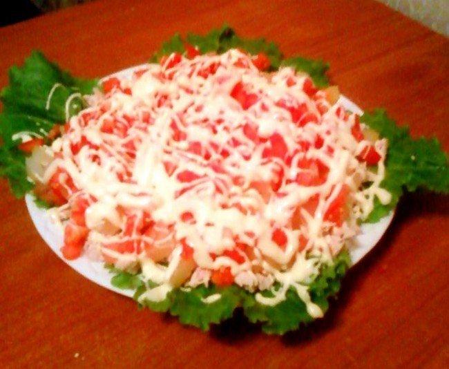 "Салат ""Дамский каприз"": украшение салата"