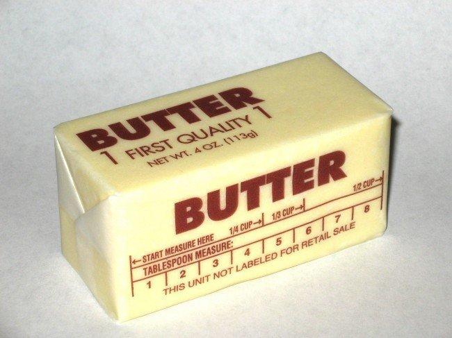 сливочное масло - калорийный продукт