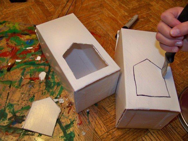 Как сделать кормушку из пакета сока фото 12