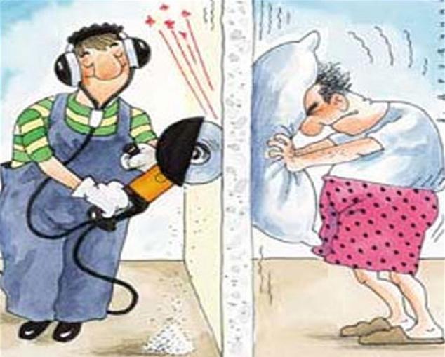как поступить с шумными соседями