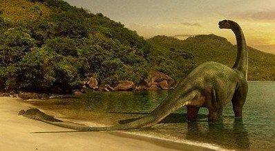 Диплодок - самый крупный динозавр среди травоядных