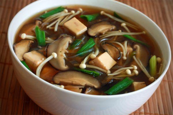 Суп грибной. Кухня Японии.