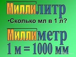 Что обозначает приставка милли?