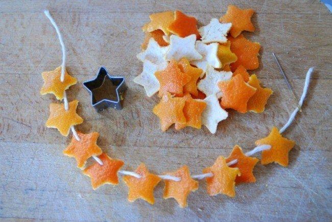 Как сделать из корок апельсина