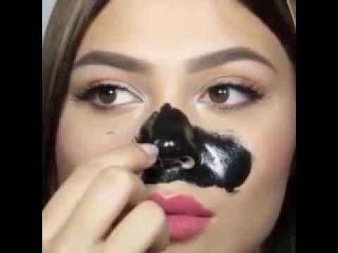 убираем черные точки на носу