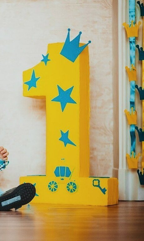 Как украсить цифру 1 на день рождения мальчику своими руками 26
