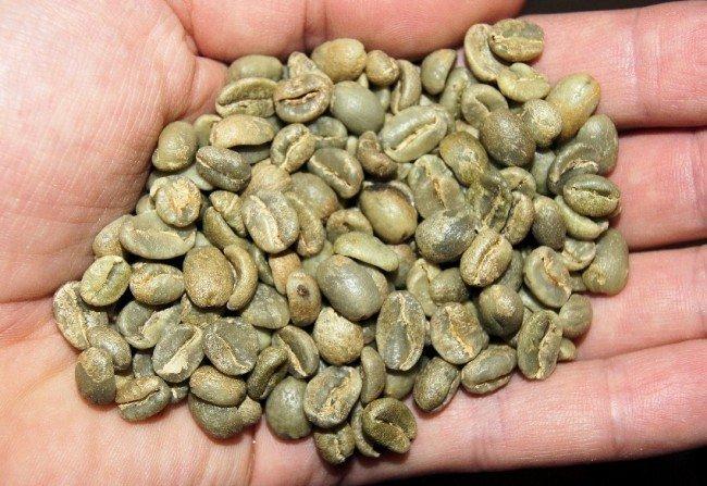 высушенные зёрна кофе