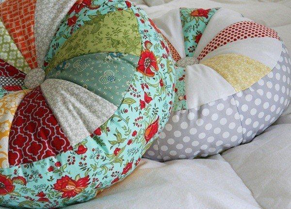 красивая подушка своими рукми