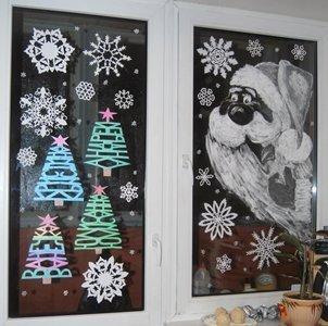 Чем нарисовать на окне (стекле) снежинки? Vovet.ru