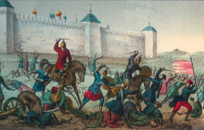 Защита стен монастыря
