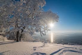 Природное явление - солнечный столб.