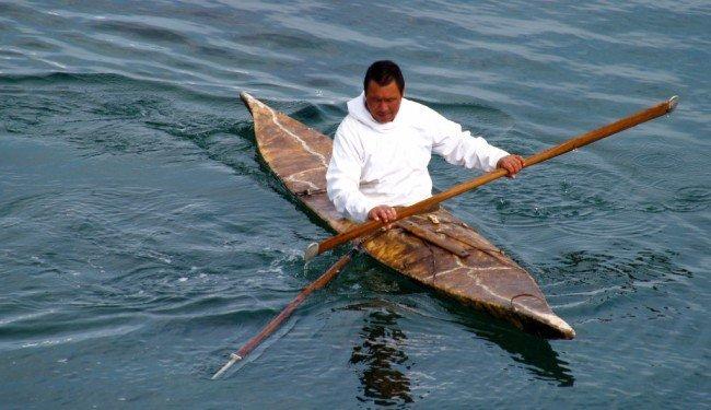 лодка из оленьих шкур