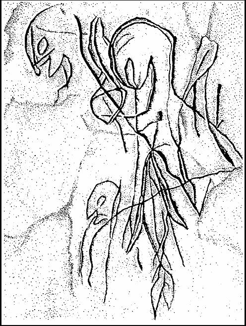 Люди-рептилии: наскальные рисунки
